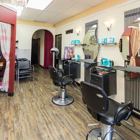 right side of salon